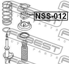 ОПОРА ЗАДНЕГО АМОРТИЗАТОРА NISSAN X-TRAIL T30 2000-2006 FEBEST NSS012
