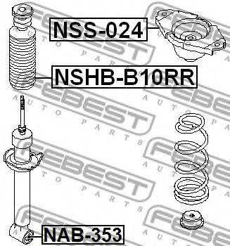 Опора амортизатора  заднего FEBEST NSS024