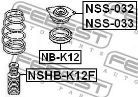 Опора амортизатора переднего FEBEST NSS032