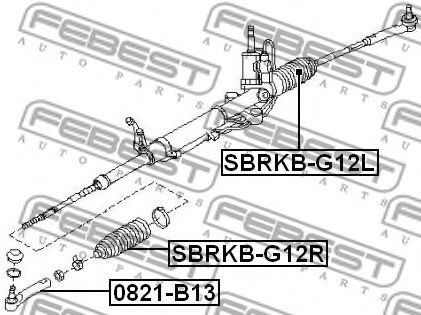 Пыльник рулевой рейки FEBEST SBRKBG12L