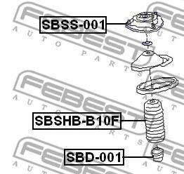 Опора амортизатора переднего FEBEST SBSS001