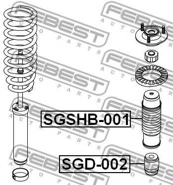1шт. Відбійник переднього амортизатора Ssang Yong Rexton 06- FEBEST SGD002