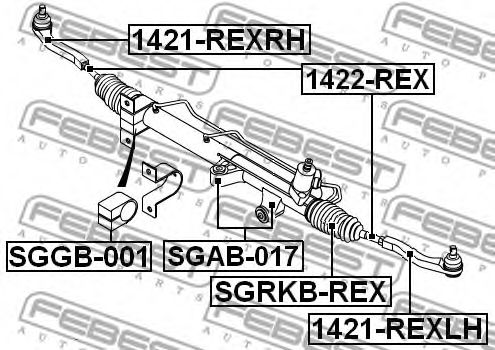 Пыльник рулевой рейки SSANG YONG KYRON 05-12 (Пр-во FEBEST)                                          FEBEST SGRKBREX