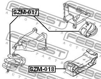 Подушка двигателя задняя FEBEST SZM018