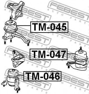 Подушка двигателя FEBEST TM047