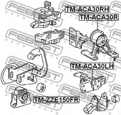 Подушка двигателя TOYOTA RAV4 (пр-во FEBEST)                                                         FEBEST TMACA30LH