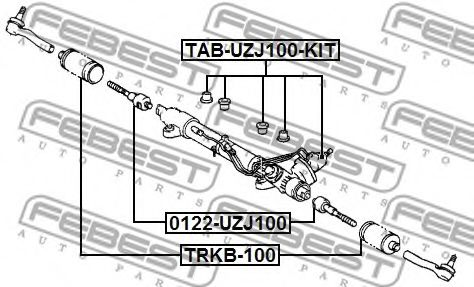 Пыльник рулевой рейки LEXUS LX, TOYOTA LAND CRUISER 98- (Пр-во FEBEST)                               FEBEST TRKB100