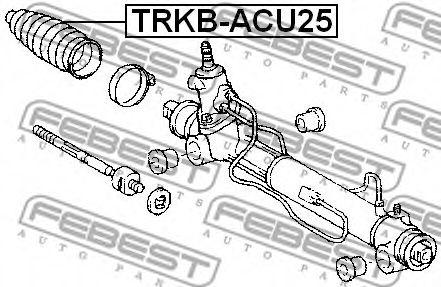 Пыльник рулевой рейки LEXUS RX, NISSAN JUKE 03- (Пр-во FEBEST)                                       FEBEST TRKBACU25