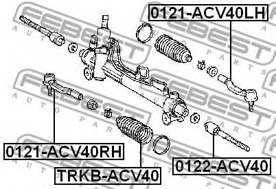 Пыльник рулвой рейки FEBEST TRKBACV40