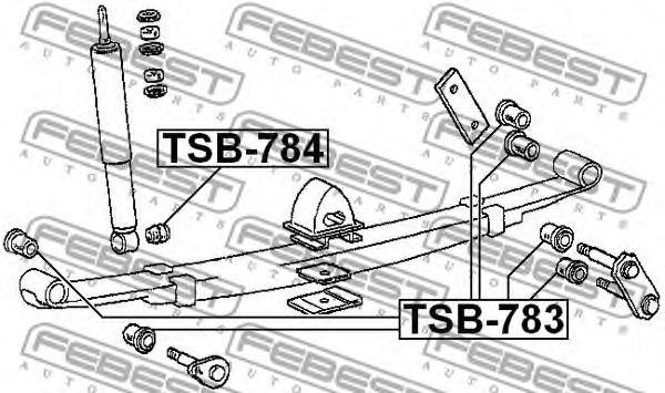 ВТУЛКА ЗАДНЕГО АМОРТИЗАТОРА MITSUBISHI L200 KB4T 4WD 2005- FEBEST TSB784