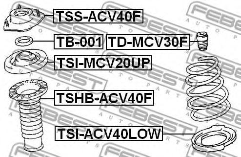 Опора амортизатора переднего FEBEST TSSACV40F