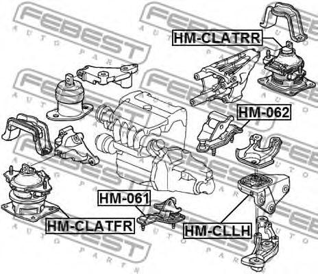 Подушка двигателя FEBEST HMCLLH