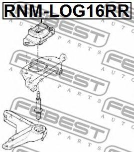 Подушка КПП RENAULT LOGAN 2005-2013 (пр-во FEBEST)                                                   FEBEST RNMLOG16RR
