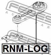 Подушка двигателя RENAULT LOGAN 2005-2013 (пр-во FEBEST)                                             FEBEST RNMLOG