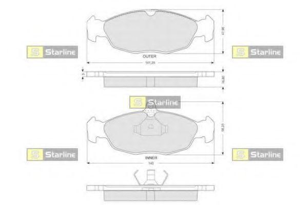 Колодки тормозные дисковые, к-кт.  арт. BDS024