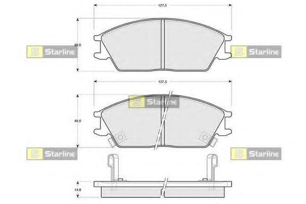 Колодки тормозные дисковые, к-кт.  арт. BDS047