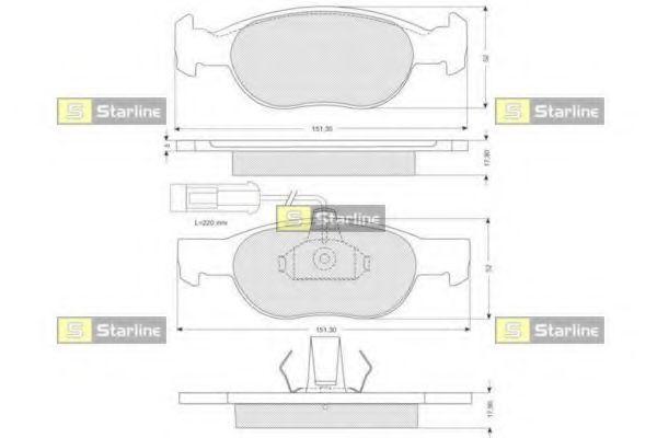 Колодки тормозные дисковые, к-кт.  арт. BDS058