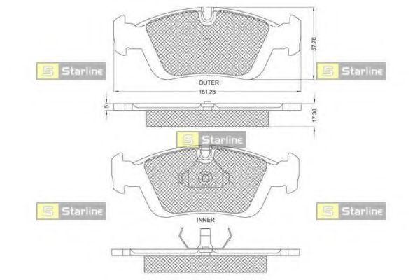 Колодки тормозные дисковые, к-кт.  арт. BDS153