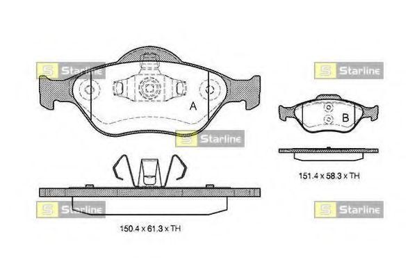 Колодки тормозные дисковые, к-кт.  арт. BDS306