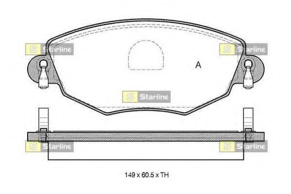 Колодки тормозные дисковые, к-кт.  арт. BDS313