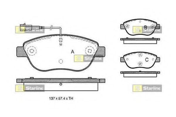 Колодки тормозные дисковые, к-кт.  арт. BDS324