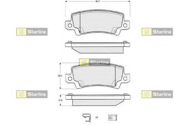 Колодки тормозные дисковые, к-кт.  арт. BDS327