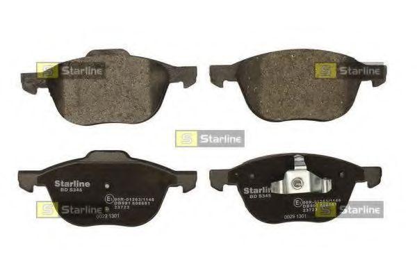 Колодки тормозные дисковые, к-кт.  арт. BDS345