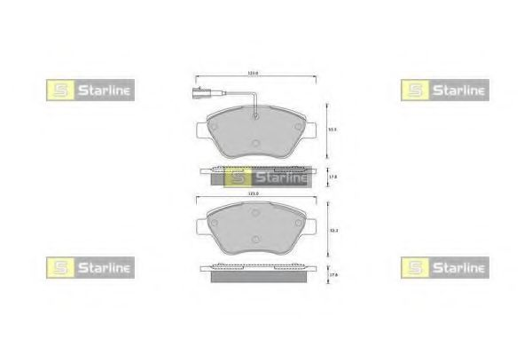 Колодки тормозные дисковые, к-кт.  арт. BDS361