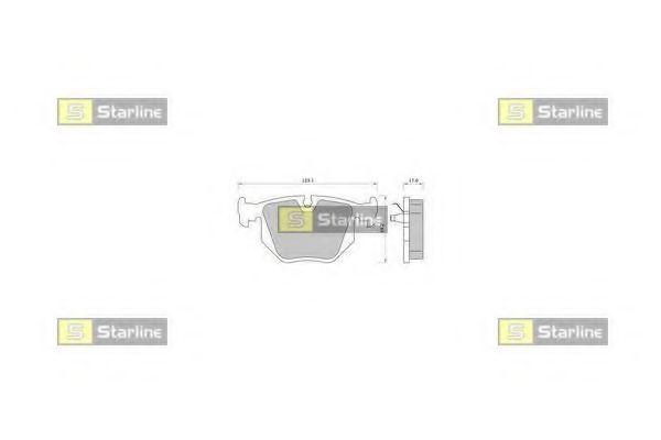 Колодки тормозные дисковые, к-кт.  арт. BDS363