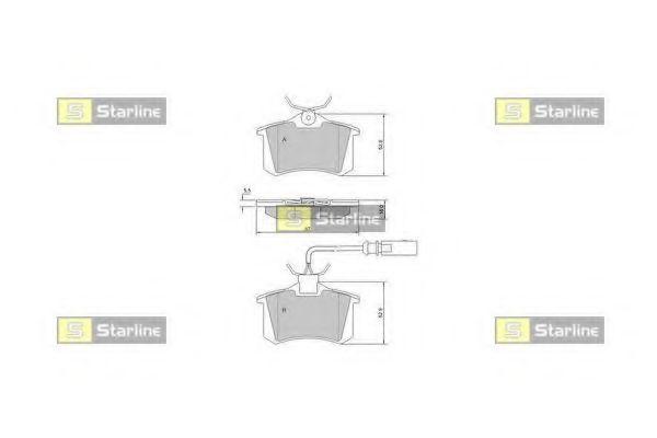 Колодки тормозные дисковые, к-кт.  арт. BDS375