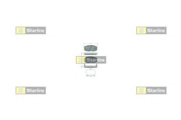 Колодки тормозные дисковые, к-кт.  арт. BDS378