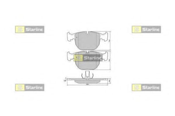 Колодки тормозные дисковые, к-кт.  арт. BDS384