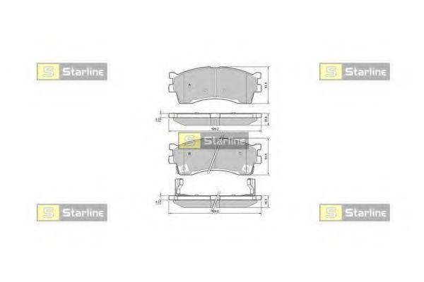 Колодки тормозные дисковые, к-кт.  арт. BDS401