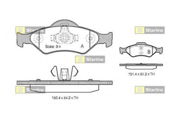 Колодки тормозные дисковые, к-кт.  арт. BDS824P