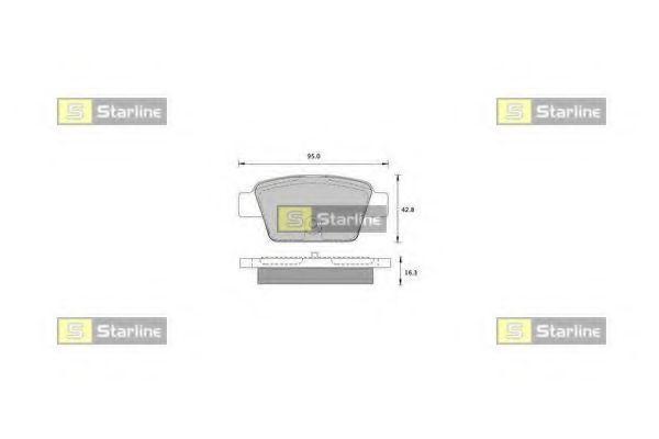 Колодки тормозные дисковые, к-кт.  арт. BDS836P