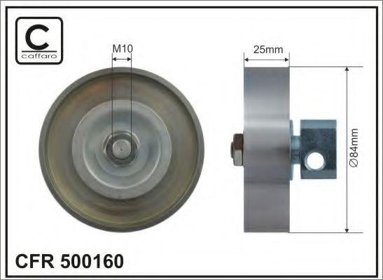 84x25 metal Натяжний ролик ременя Nissan Almera Tino, Almera седан II 1,8 00- CAFFARO 500160