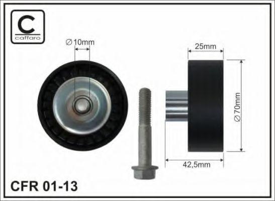 70x10x26 Натяжной ролик Bmw E46/Z3 316i-318i/1,9 (M43) CAFFARO 0113