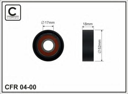 Натяжитель ремня генератора Ролик натяжной Ford Transit 00- 2.0TDCI (52x18x17) CAFFARO арт. 0400