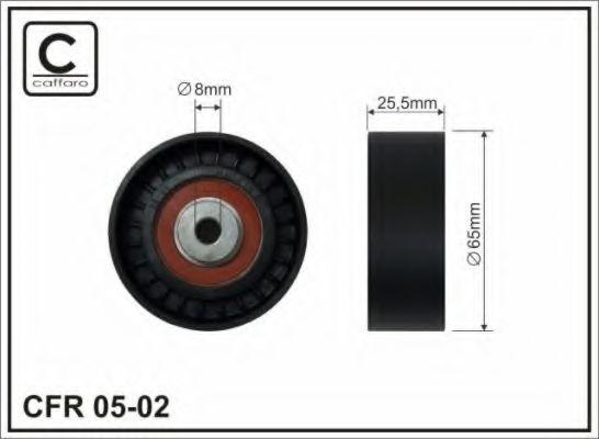 Натяжний ролик Audi A3 1,9TDI 96-// Skoda 1,9TDI 09- 8x65x25 CAFFARO 0502