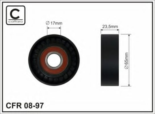 (65x17x23 ) Натяжник паска Fiat Punto 1.4 09- CAFFARO арт. 0897
