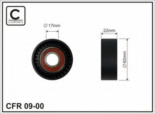 60x17x22 Натяжний ролик Ford 1.8D/TD Servo+Klima CAFFARO 0900