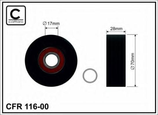 70x17x28 Натяжной ролик паска ГРМ Bmw X5 4.4 CAFFARO 11600