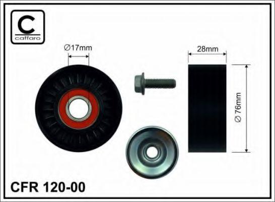76x17x28 Натяжний ролик Audi A4/A6 1.6/1.8T/2.0 CAFFARO 12000