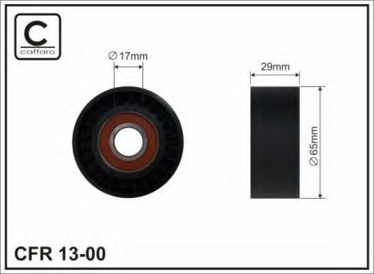 Фото - Натяжной ролик, поликлиновой  ремень CAFFARO - 1300