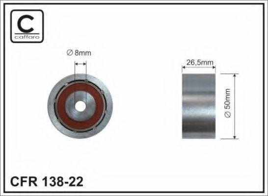 Фото - (52x10x26) Ролик натяжний поліклинового паска Renault/Peugeot/ Citroen CAFFARO - 13822