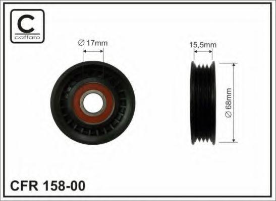 68X17X16,5 Натяжний ролик поліклинового паска Honda Accord VI/Civic VI/Subaru Forester/Impreza/Legacy 1.5-2.5 08.92-  CAFFARO 15800