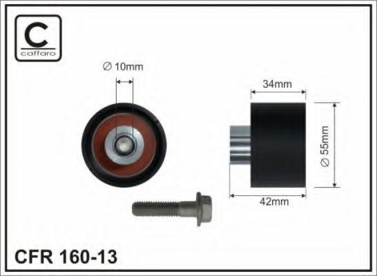 55x10x34 Натяжний ролик KIA CARNIVAL I, II 2.9D 08.99-  CAFFARO 16013