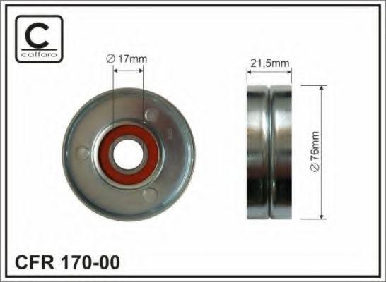 Фото - Натяжной ролик, поликлиновой  ремень CAFFARO - 17000