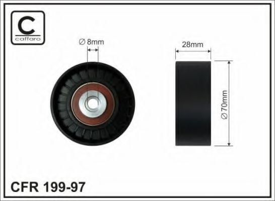 70x8x28 Натяжний ролик генератора Bmw 750 i 94-01 CAFFARO 19997