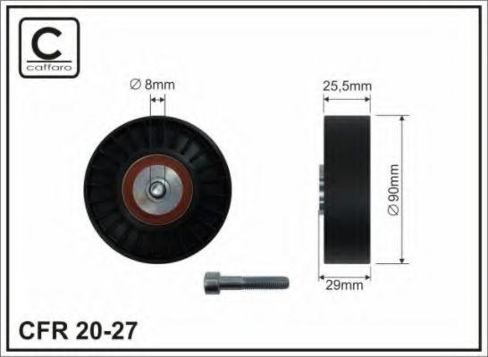Фото - Паразитный / ведущий ролик, поликлиновой ремень CAFFARO - 2027